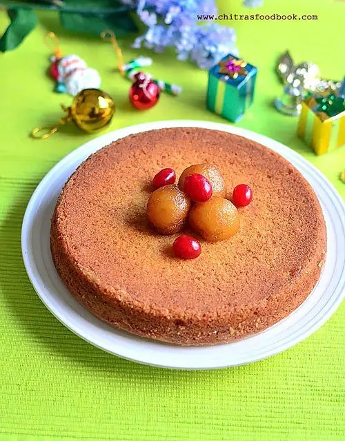 Eggless Vanilla Cake Recipe using Gulab Jamun Mix