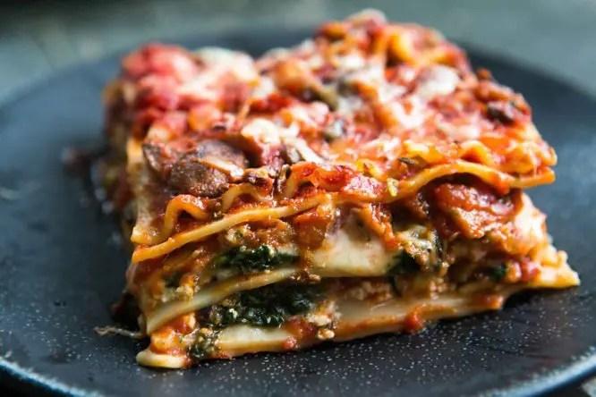 Paneer Lasagna With Kadahi Sabzi Ratatouille