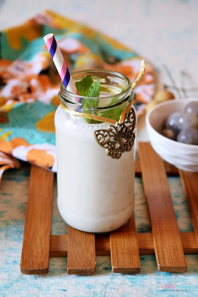 Vegan Tropical Longan Smoothie