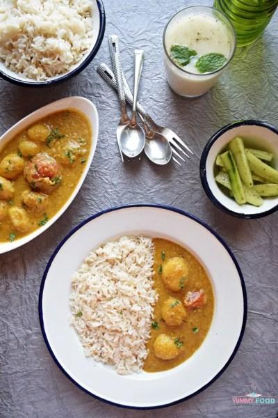 Pudinaewale Aloo – Minty Potato Gravy