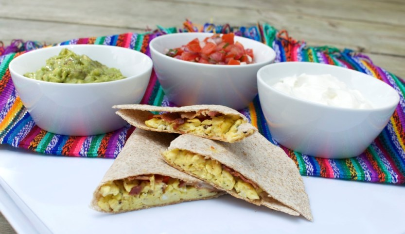 grilled breakfast quesadilla via kitchen frolic