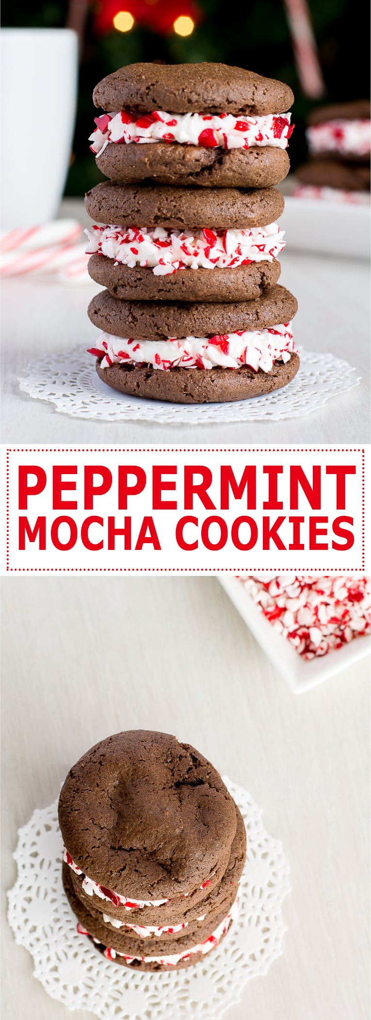 ... cookies filled with peppermint cream cheese frosting! | Kitchen Gidget