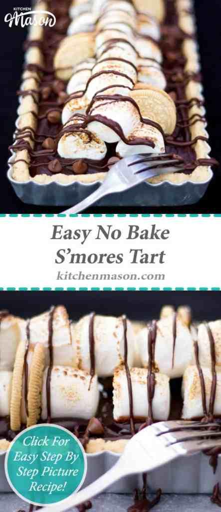 S'mores Tart | No Bake | Easy | Golden Oreo | Chocolate | Marshmallow