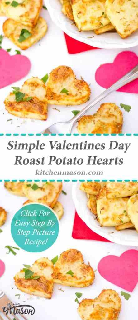 Roast Potato Hearts | Valentines Day | Sides | Simple | Heart