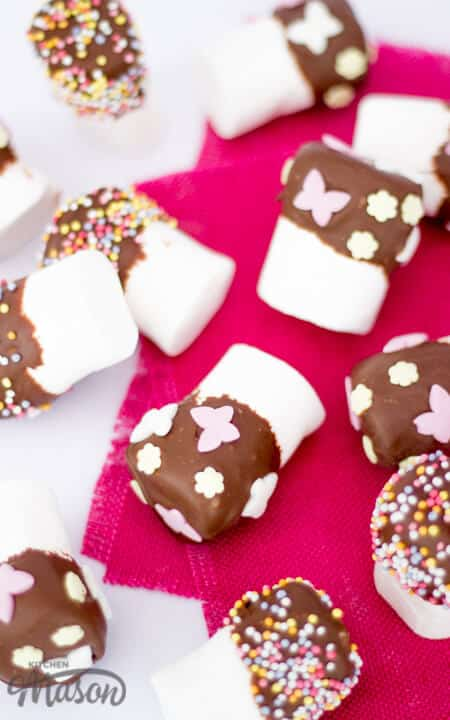 Chocolate Dipped Marshmallows   Easter   No Bake   Homemade Gift