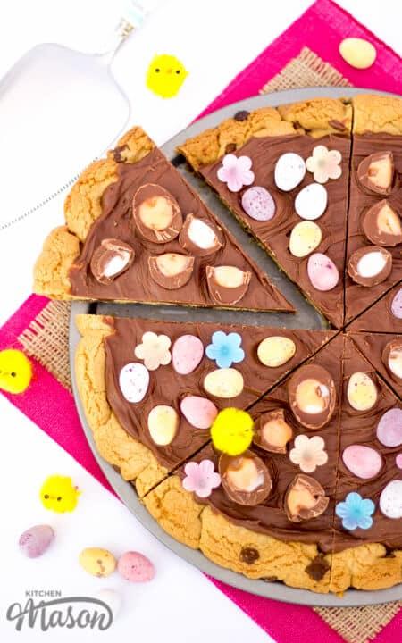 Easter Chocolate Cookie Pizza | Creme Egg | Mini Eggs ...
