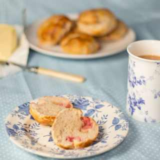 Gluten Free Rhubarb Teacakes