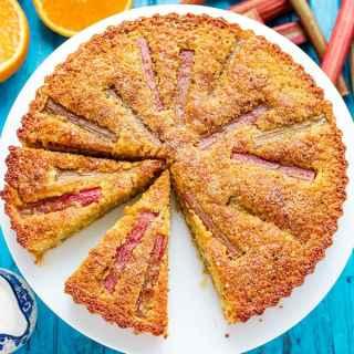 Rhubarb and Amaretti Cake