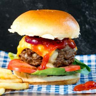 Melty Cheese Stuffed Burger