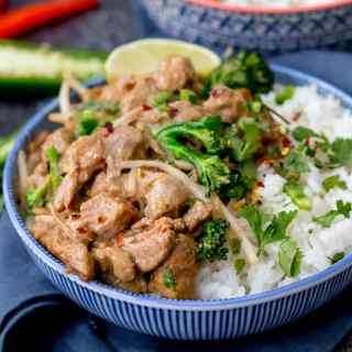Thai Style Peanut Pork with Broccoli