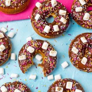 Chocolate S'mores Baked Doughnuts