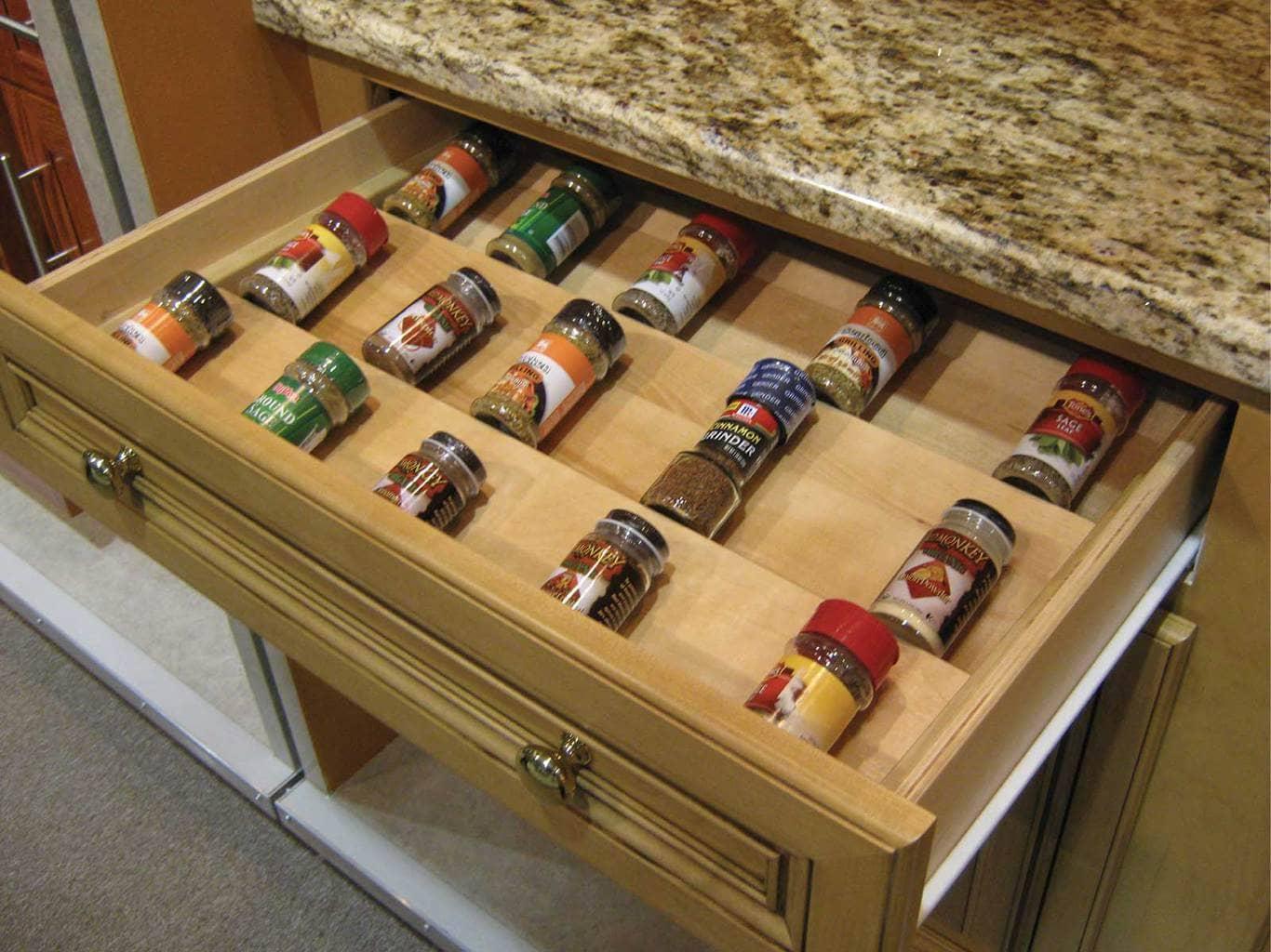 Kitchen drawer inserts for spices - Kitchen Drawer Inserts For Spices Wood Spice Drawer Insert Download
