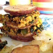 Tofu Scramble Breakfast Stack: This just might be a thing