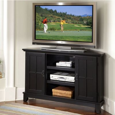 Home Styles Arts Crafts Corner Entertainment Tv Stand 49 75 Inch W X 20 Inch D X 32 Inch H Black