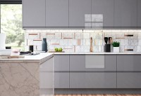 Strada Gloss Light Grey & Dust Grey | Kitchen Stori