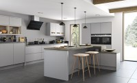 Strada Matte Contemporary Light Grey | Kitchen Stori