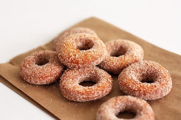 homemade cake doughnuts