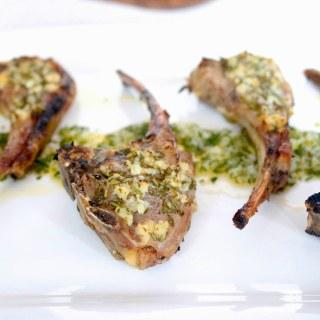 Herb and Garlic Lamb Chop Pops