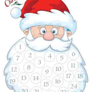 Santa Advent Calendar – Free Printable