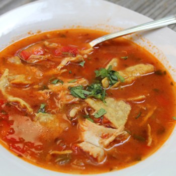 smokey simplicity with Chipotle chicken tortilla soup