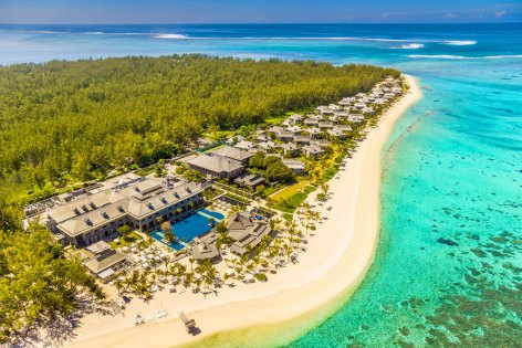 Ariel view of the St Regis Resort / PHOTO: St Regis, Mauritius