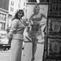 Anita Ekberg Obeys Signs; And Happy Father's Day