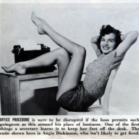 "Modern Woman Mondays: ""One of the first things a secretary learns is to keep her feet off the desk."""