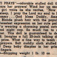 Dolls From The 1957-58 Aldens Catalog