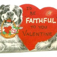 Old Faithful Vintage Valentine