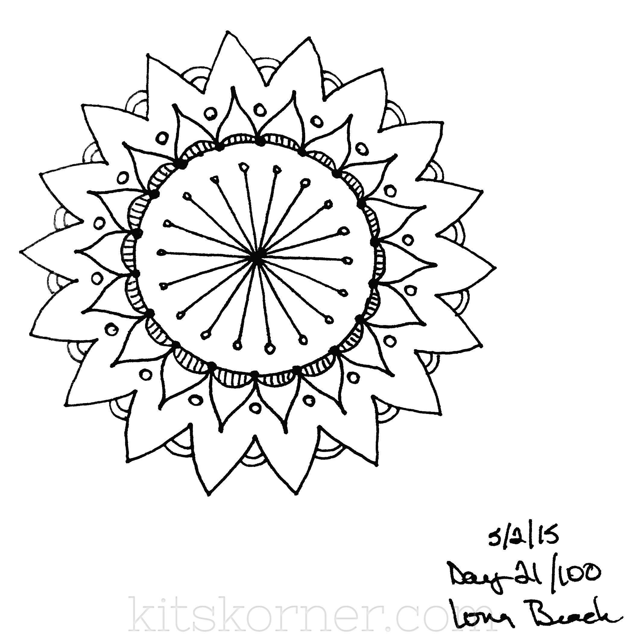 Sketchbook : 100 Mandalas Challenge Week 4