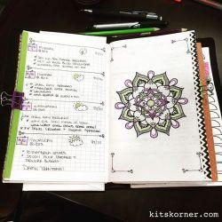 InstaDiary : Aug 1 – Aug 4 Daily-Weekly Spread in my Mandala Journal (BuJo)