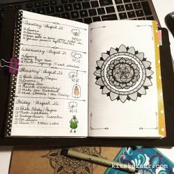 InstaDiary : Aug 23 – Aug 26 Daily-Weekly Spread in my Mandala Journal…