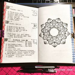InstaDiary : Sep 01 – Sep 06 Daily-Weekly Spread in my Mandala Journal, More black