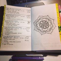 Sep 18 – Sep 22 Daily-Weekly Spread in my Mandala