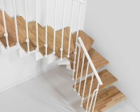 Oak 90 Staircase - Kit Spiral Staircases