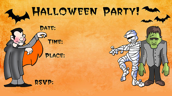 free halloween evites