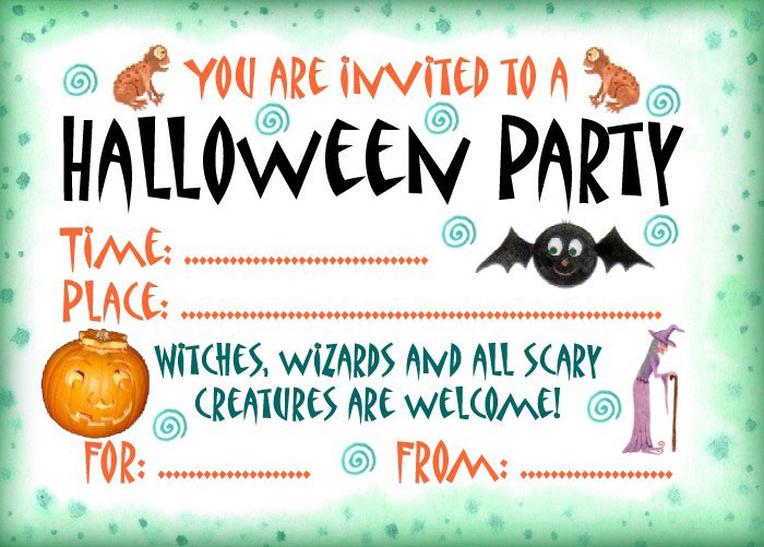 16 Awesome Printable Halloween Party Invitations KittyBabyLove