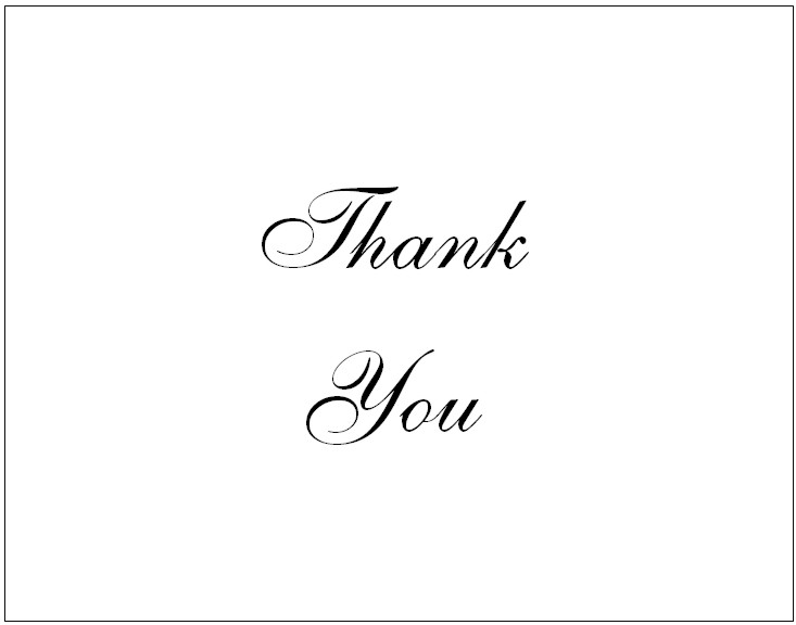 34 Printable Thank You Cards for All Purposes Kitty Baby Love - printable thank you cards black and white