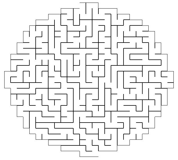 image relating to Printable Mazes Hard called Printable Xmas Mazes Demanding
