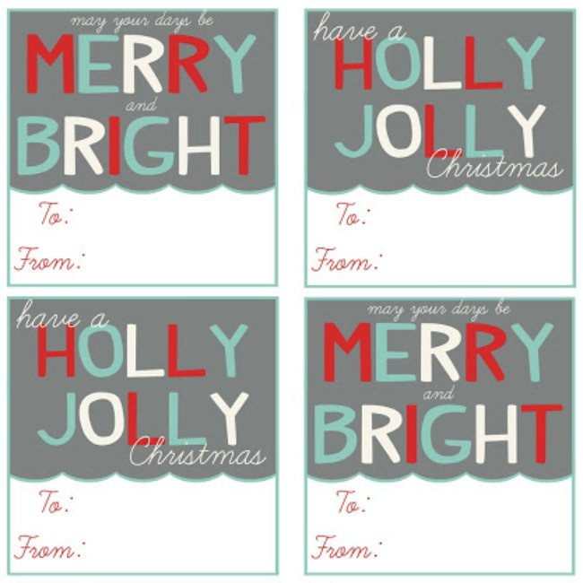 40 Unique Printable Christmas Gift Tags KittyBabyLove