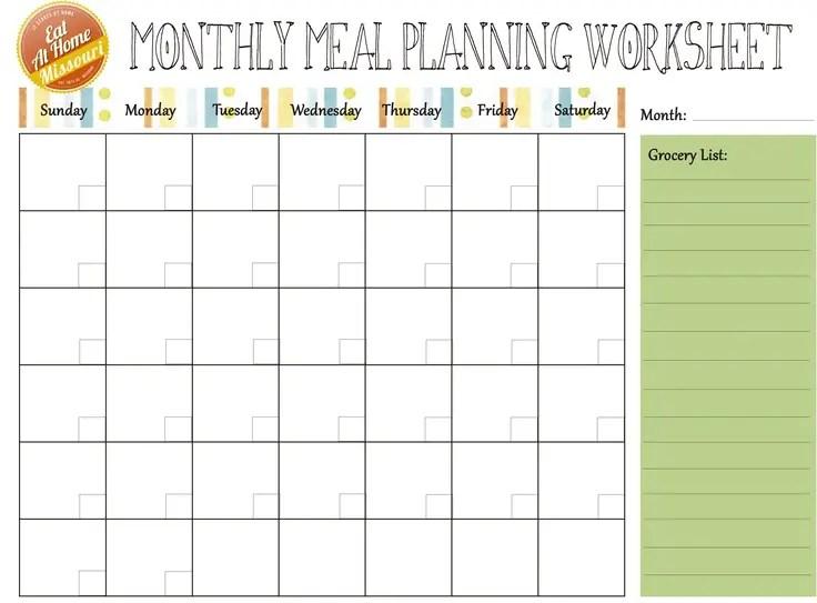 monthly menu calendar template datariouruguay - monthly planning calendar