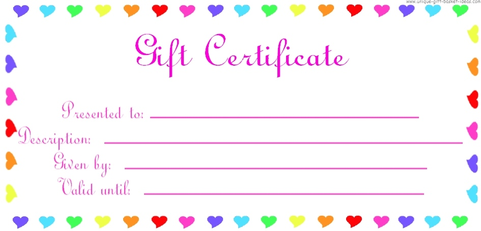 28 Cool Printable Gift Certificates Kitty Baby Love - certificate template for kids