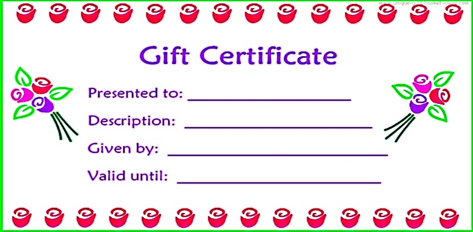 free gift certificate templates online - Baskanidai - free online printable certificates