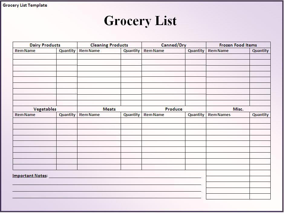 28 Free Printable Grocery List Templates Kitty Baby Love - printable shopping list with categories