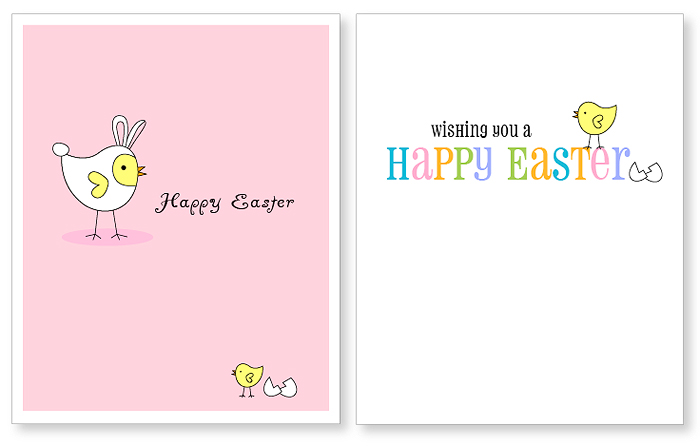 Easter Postcard Template Related Coloring Pageshappy Easterchick
