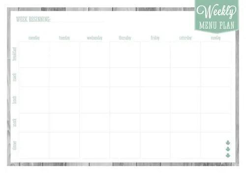 45+ Printable Weekly Meal Planner Templates Kitty Baby Love - free weekly menu templates