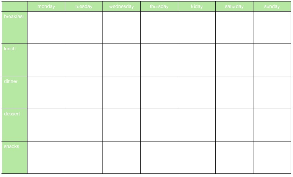 45+ Printable Weekly Meal Planner Templates KittyBabyLove
