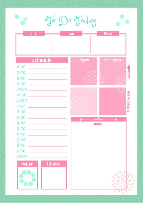 46 of the Best Printable Daily Planner Templates Kitty Baby Love
