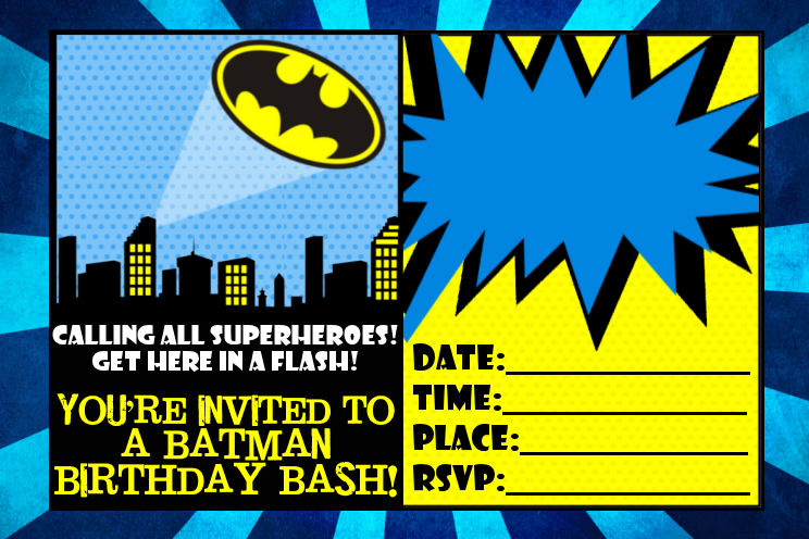 9 Awesome Batman Birthday Invitations Kitty Baby Love - free templates for invitations birthday