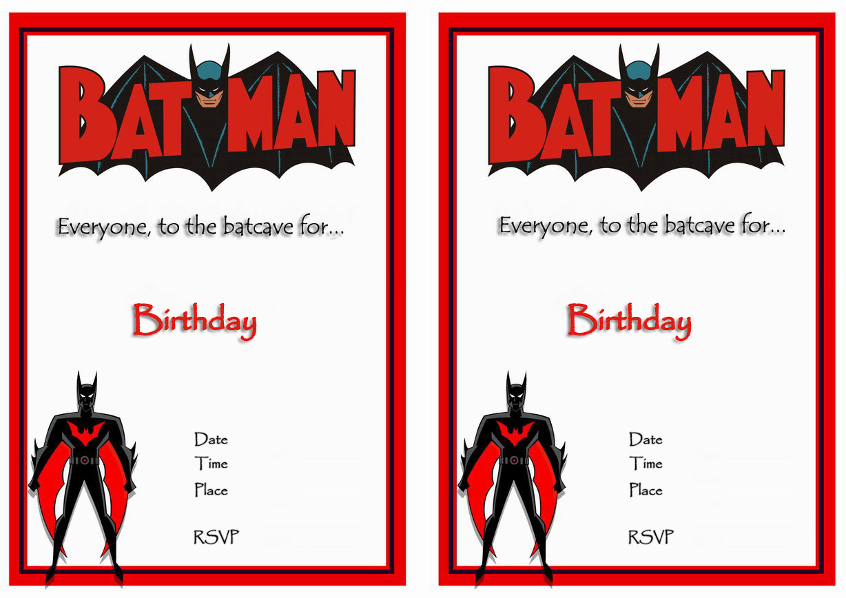 photo about Printable Batman Invitations named Interesting Batman Birthday Invites Printable